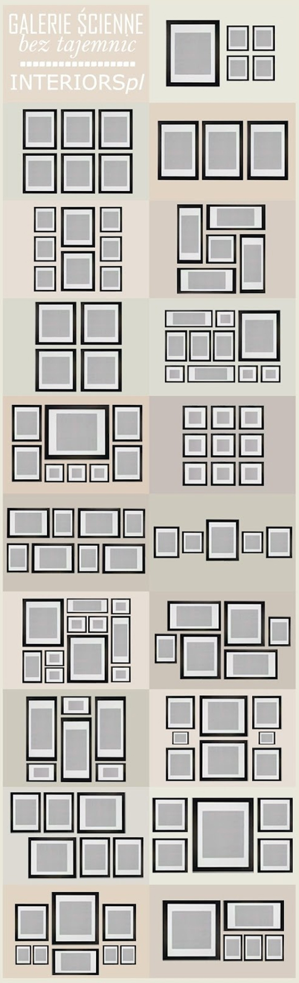 Wall portrait grouping ideas family art and wall display ideas