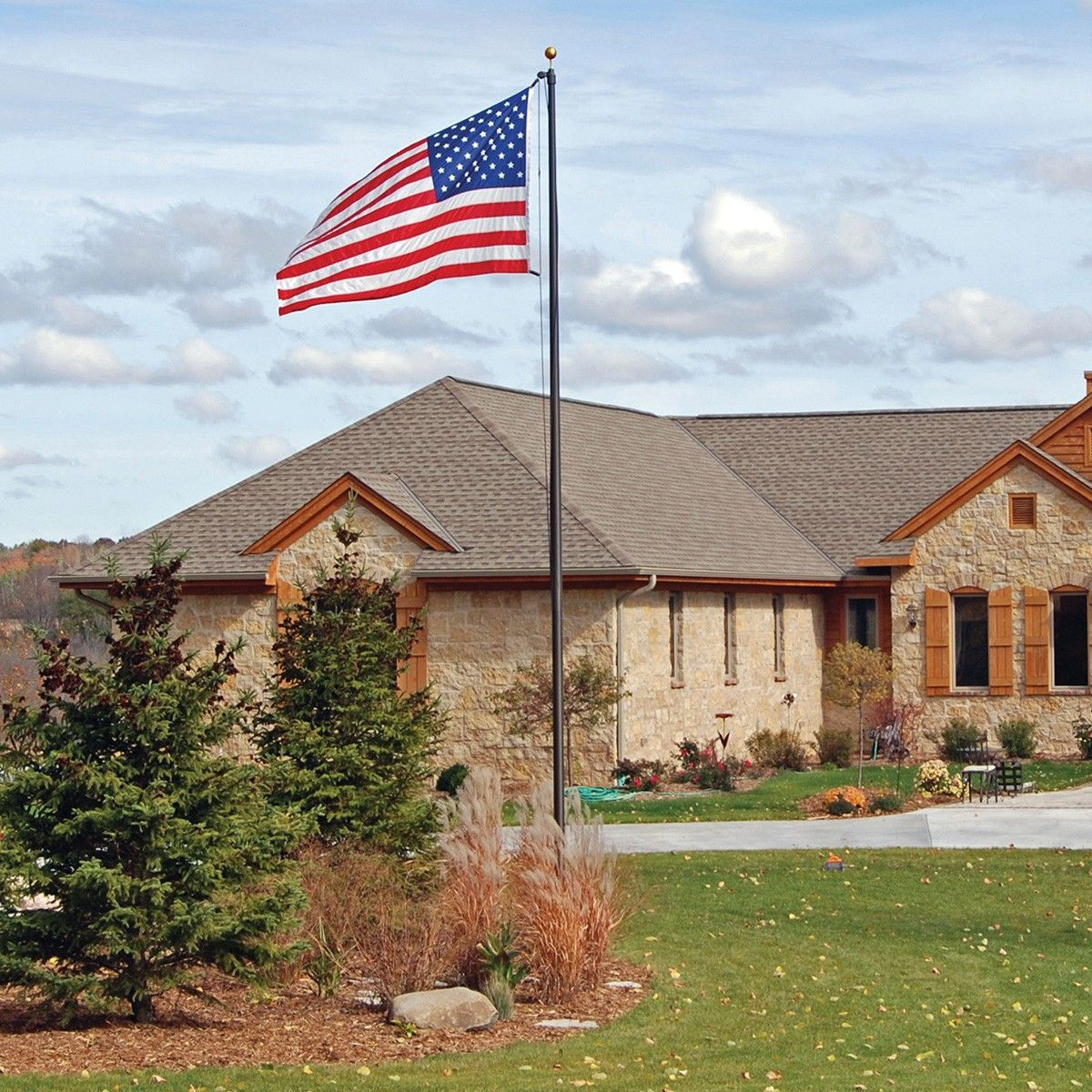 Special Budget Series 15 Ft Flag Pole Backyard Landscaping Backyard Flag Pole Landscaping