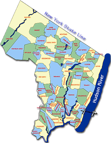 Surrounding Nj And Orange Map South Towns