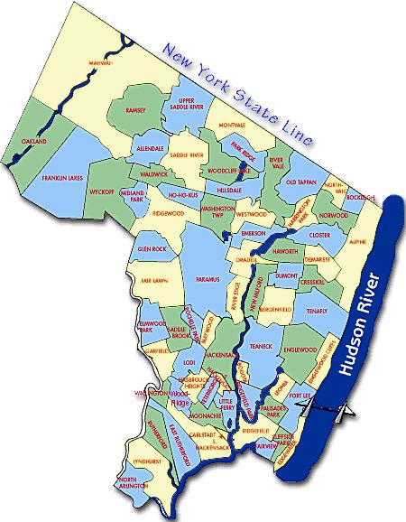 Map Of Bergen County Nj Bergen County Nj Map | Out & About | Bergen county, New Jersey  Map Of Bergen County Nj