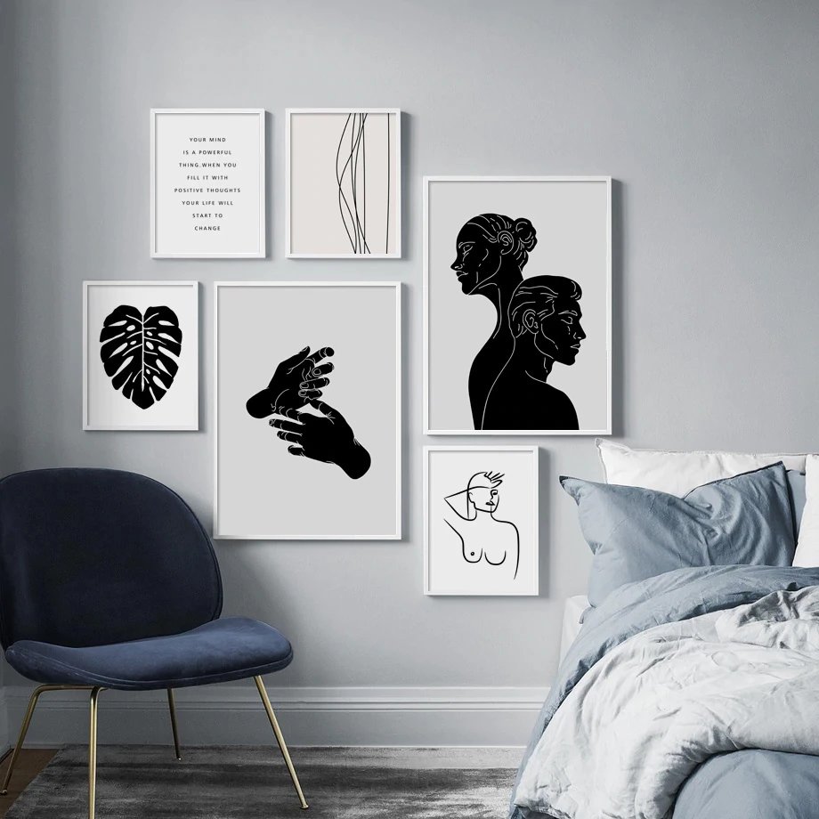Abstract Minimalist Nordic Wall Art Black White Gallery Wall Canvas Pictures Nordicwallart Com Monochrome Art Monochrome Art Print Quote Canvas Prints