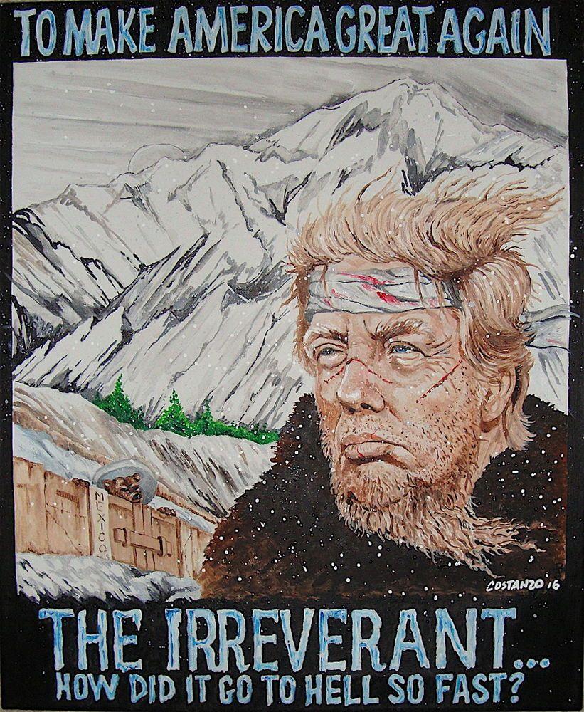 New Trump The Irreverent Political Satire Original Poster Print