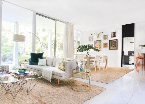 Kelly Oxford\u0027s Palm Springs-Inspired Paradise Natural fiber rugs