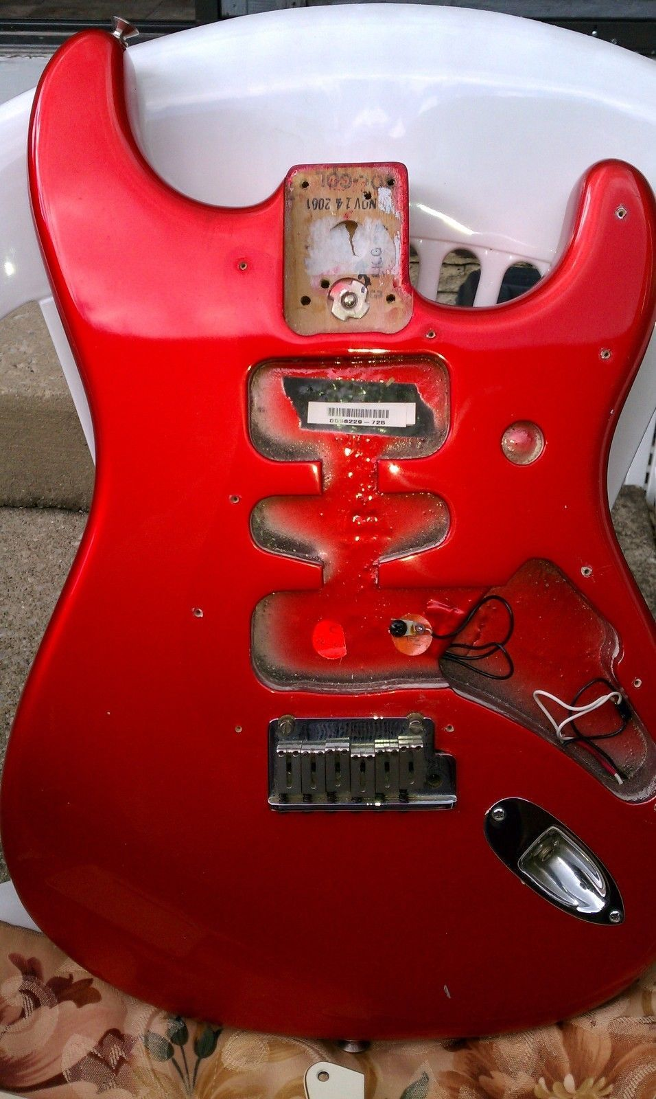 Fender American Standard Stratocaster BODY USA Chrome Red 2001 ...