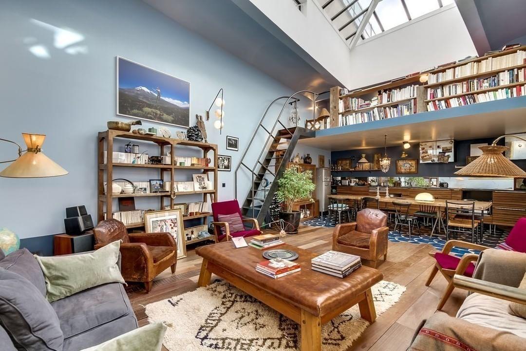 """""""Apartment in Paris by Meero  #meero #paris #eclectic #livingroom #interior #interiors #interiordesign #design #architecture"""""""