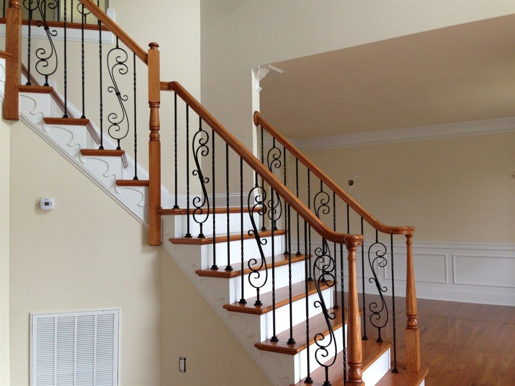 Sketch Of Wrought Iron Stair Railings For Creating Awesome
