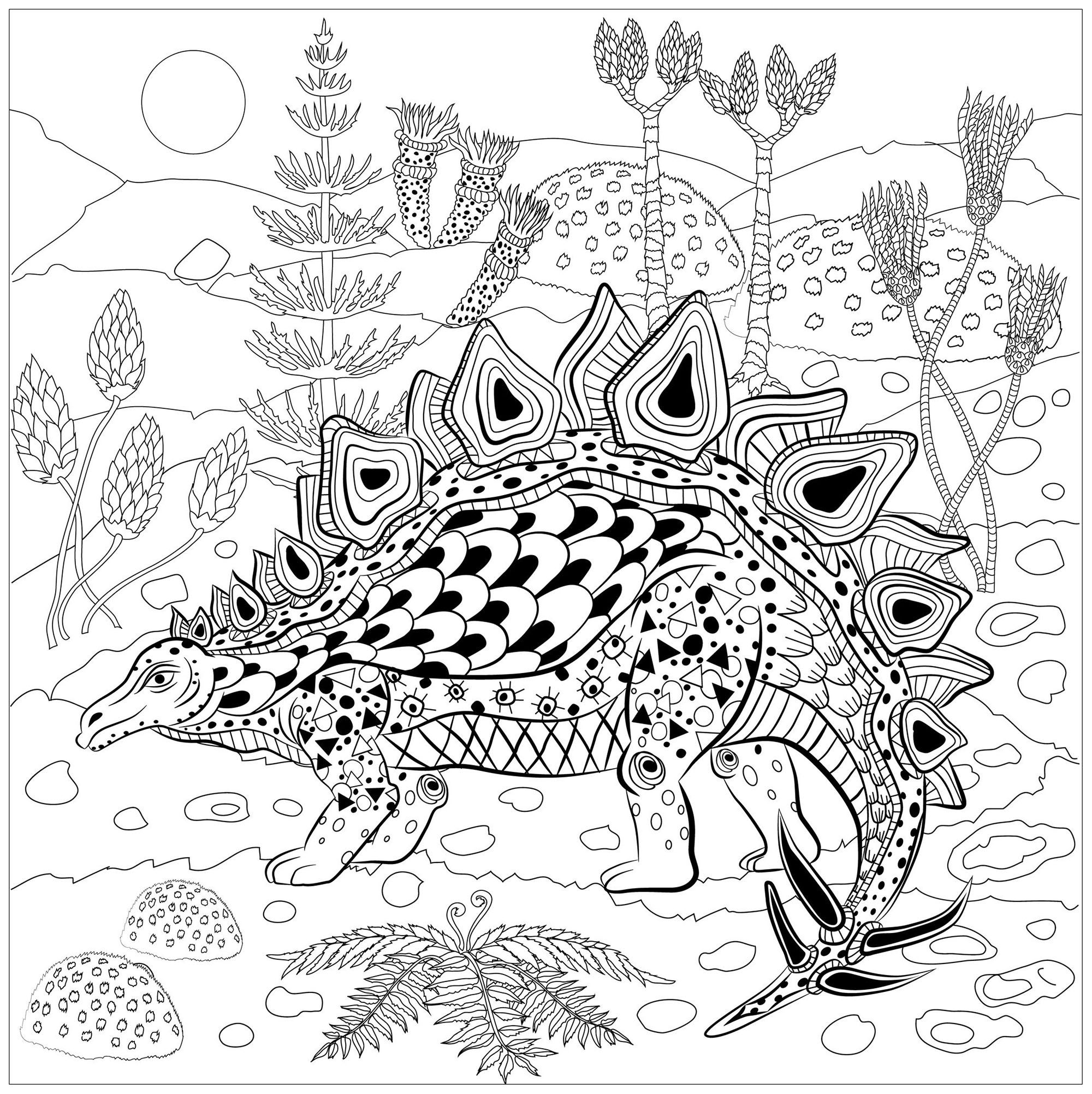 prehistoric reptile coloring page  draw  color
