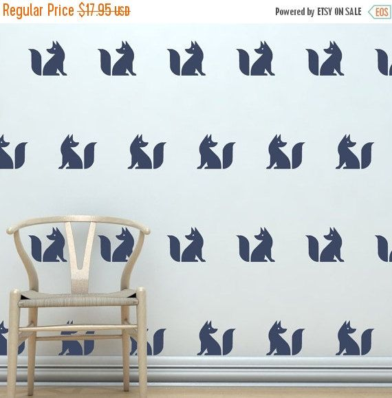 Cute Fox Silhouette Vinyl Decals Set Of Make Your Own - How to make vinyl wall decals with silhouette