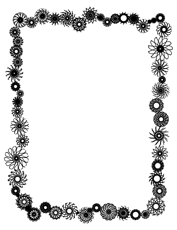 Clipart Flower Border Black And White Clipart Panda