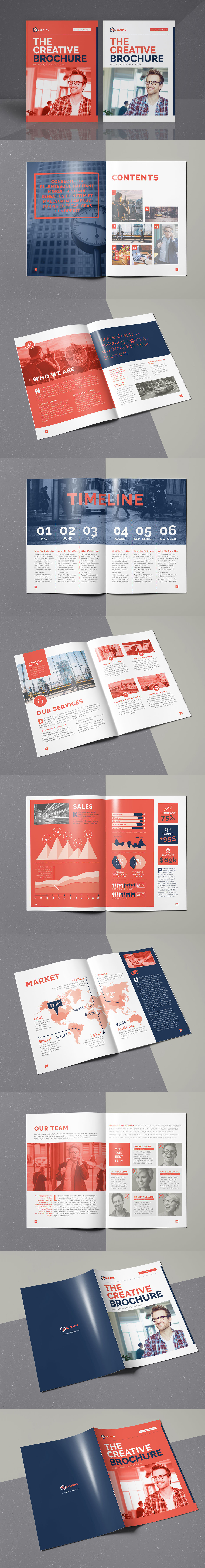 The Creative Brochure 16 Pages A4 Template InDesign INDD | art ...