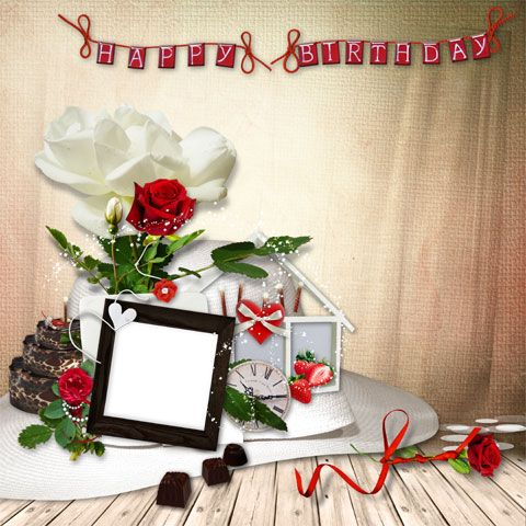 Photoshop Frame Png For Birthdays Happy Birthday Photo Frame