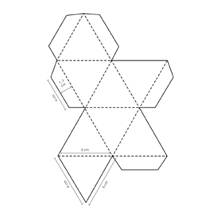 3d Gem Template Shape Templates Diamond Template Paper Diamond