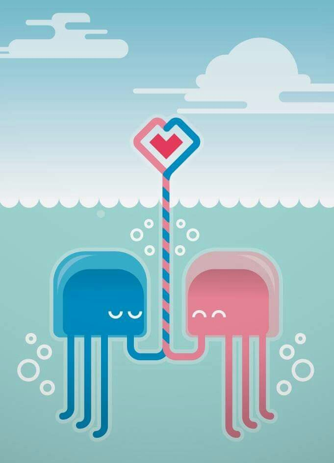 Jellyfish in love :D