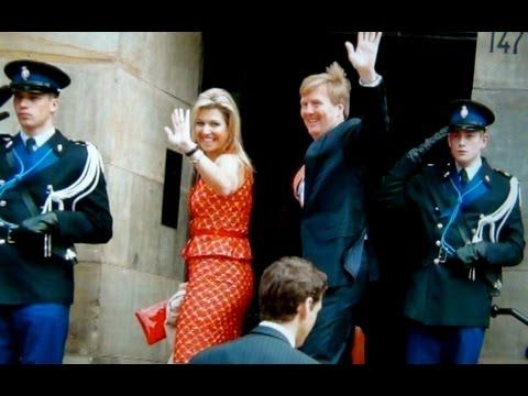 King Willem Alexander and Queen Maxima attend the 'syposium Anish Kapoor' at the royal palace in Amsterdam, 13 june 2013