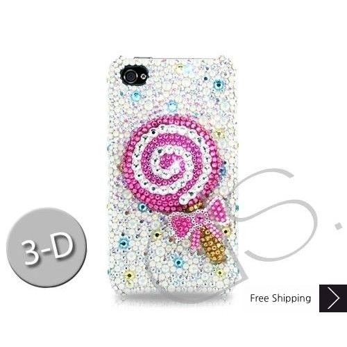 Lollipop Bling Swarovski Crystal iPhone 5 Cases - Pink