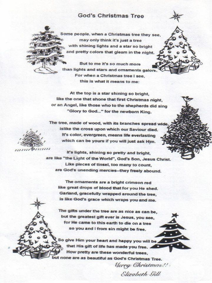 christmas poem gods christmas tree