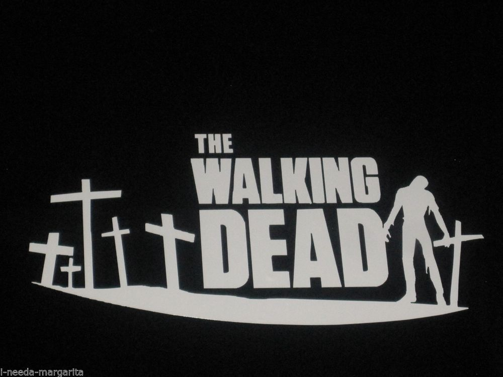 The walking dead zombie graveyard vinyl decal bumper sticker car window 75039