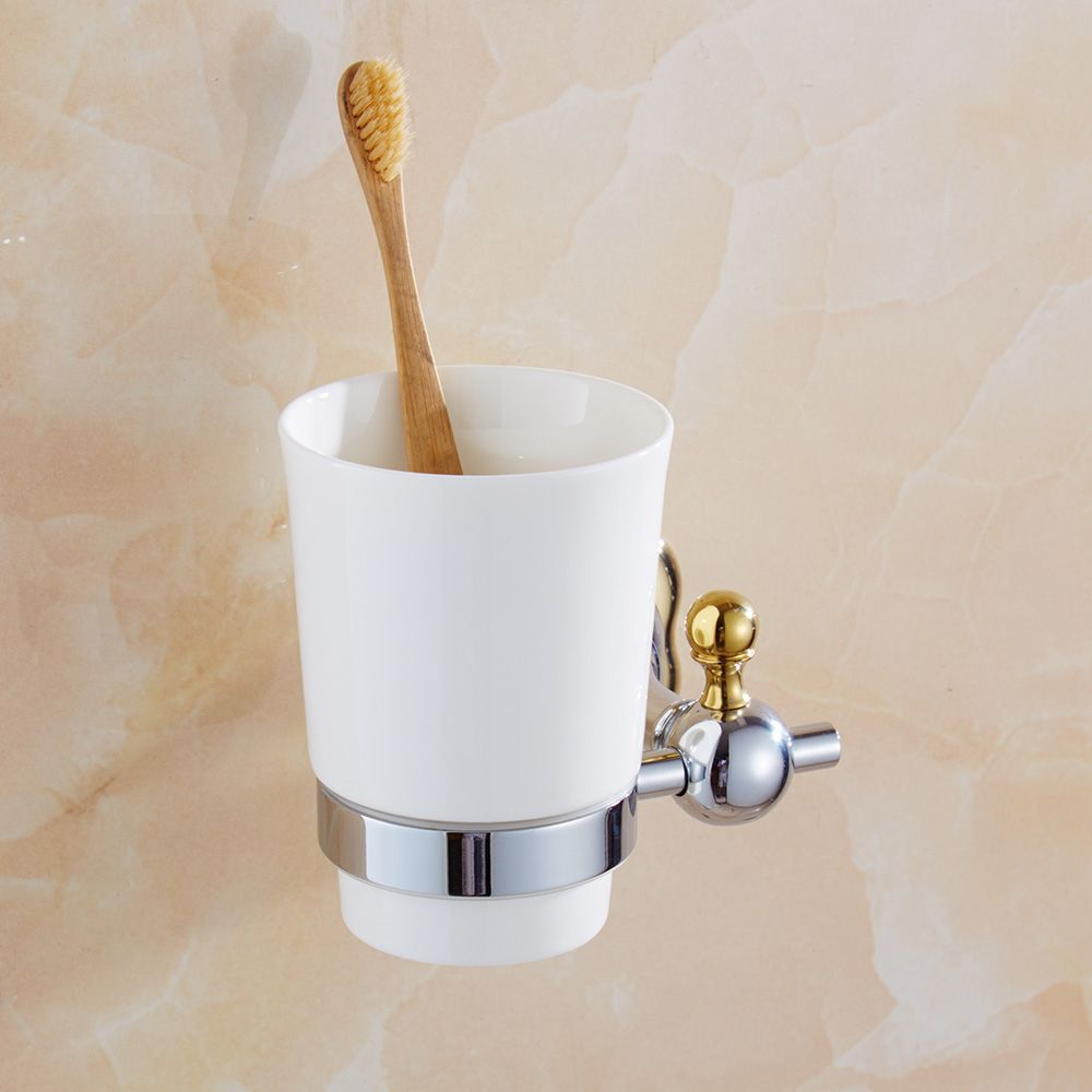 Silver Polish Cup-toothbrush-holder Modern Toothbrush Tumbler Flower ...