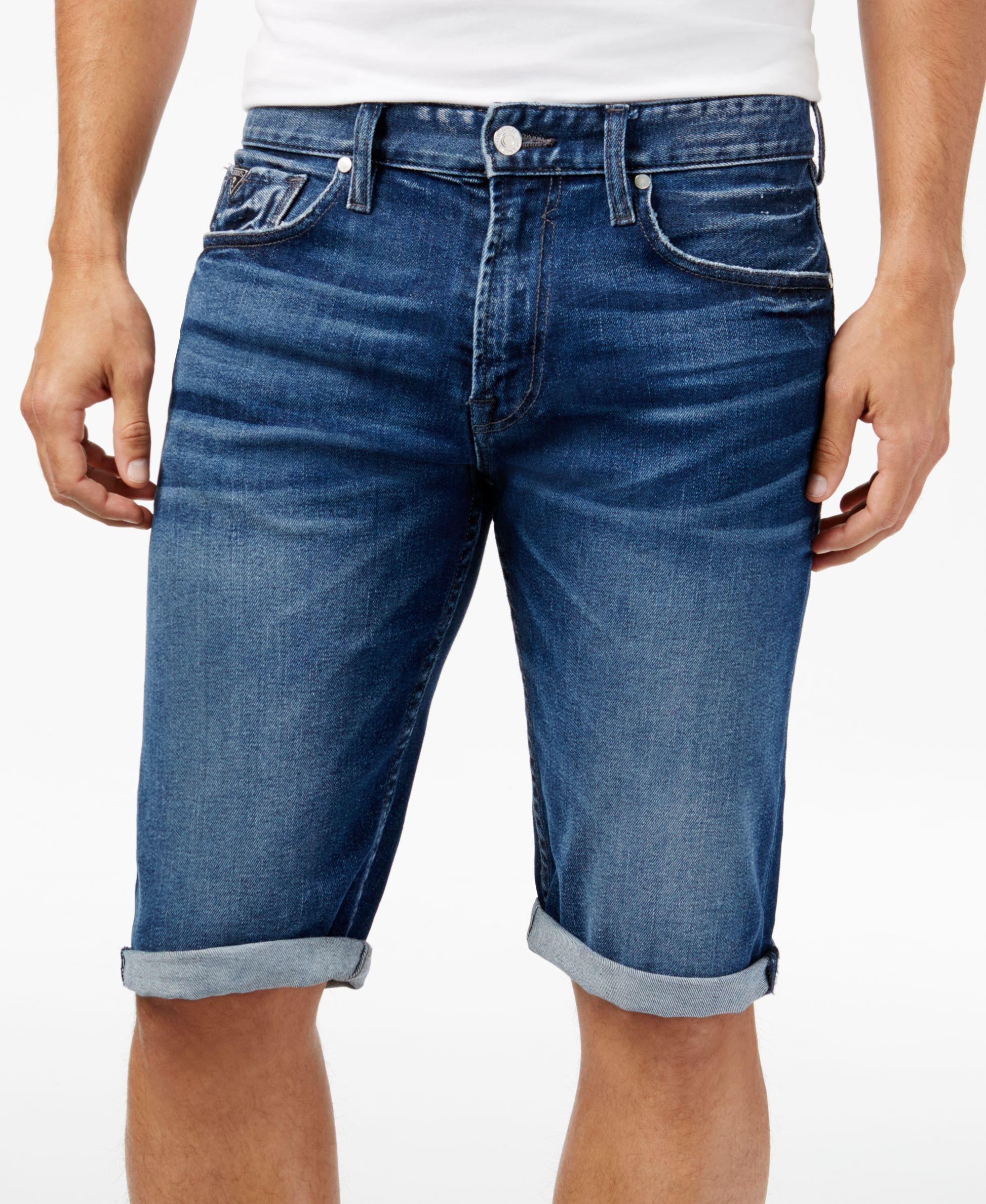 Guess Men's Regular-Fit Denim Shorts | Mens shorts, Guess men, Shorts
