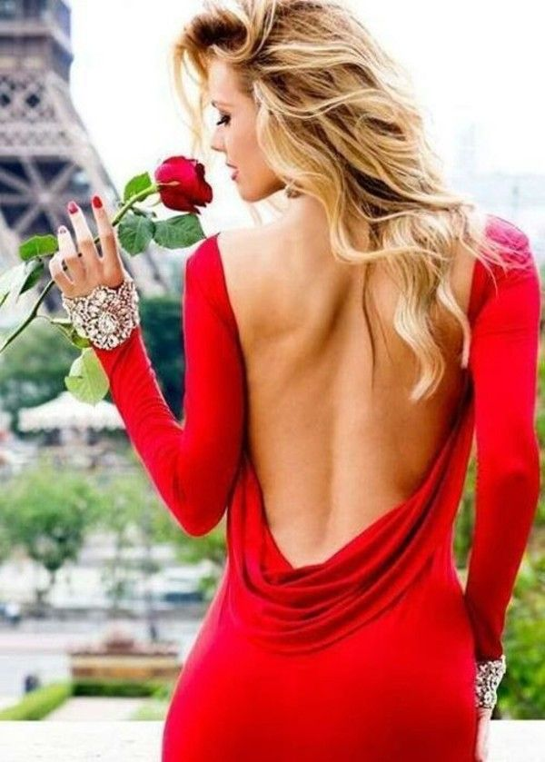 Backless Red Gown