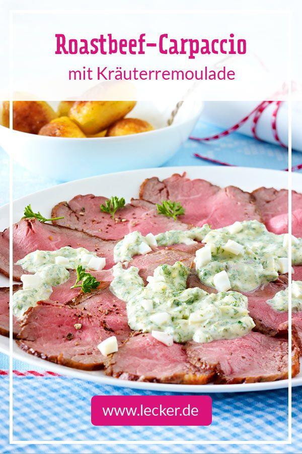 Roastbeef-Carpaccio mit Kräuterremoulade #brunchideen