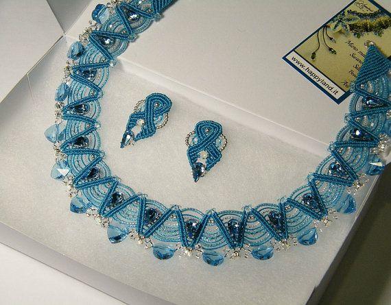 Tutorial necklace Latte macchiato