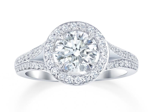 Min Webb S Cecelia Engagement Ring Is A Show Stopper Designed In Clic Halo Style
