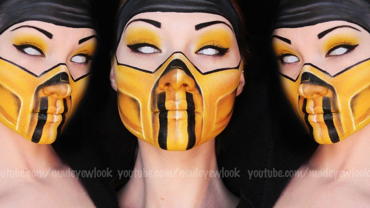 Scorpion Makeup Tutorial Mortal Kombat Halloween Costumes