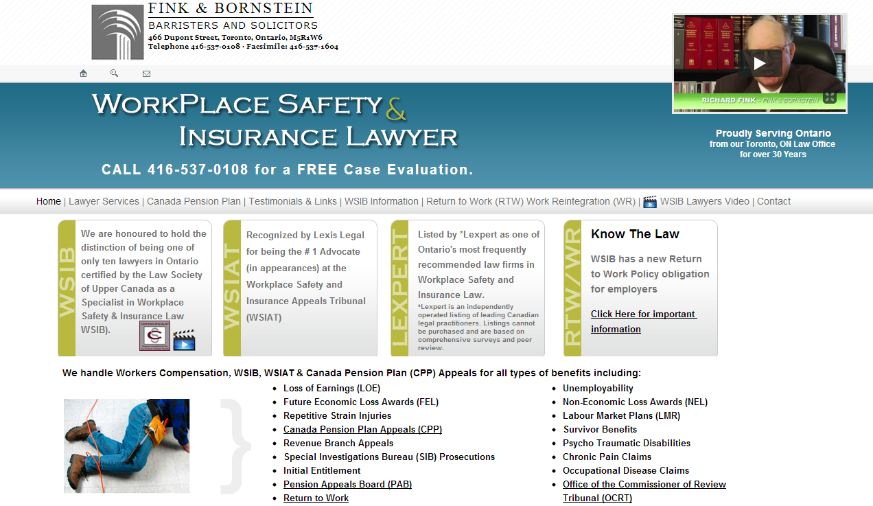 Example of Attorney SEOfriendly website we built for a