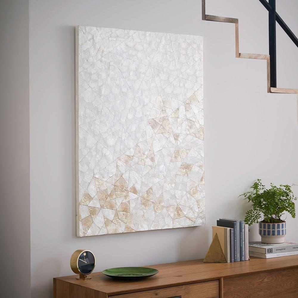 Capiz Wall Art Crystal Formation Wall Decor Decor Home Art