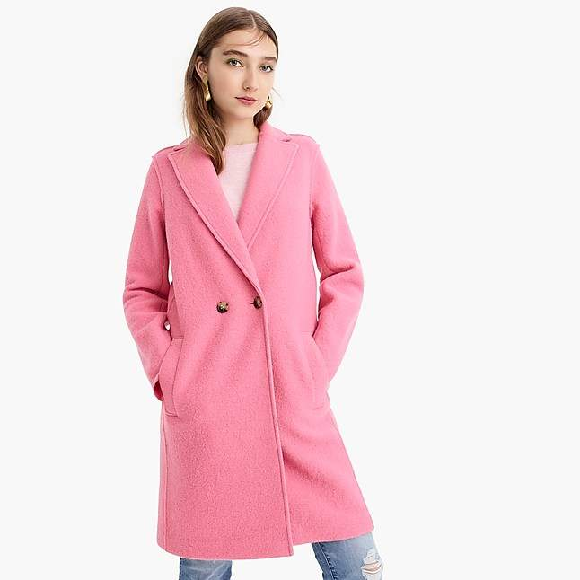 00619802226 J.Crew Daphne topcoat in Italian boiled wool