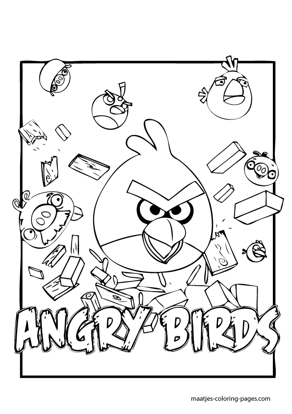 Angry Birds Coloring Pages Angry Birds Coloring Pages Coloring