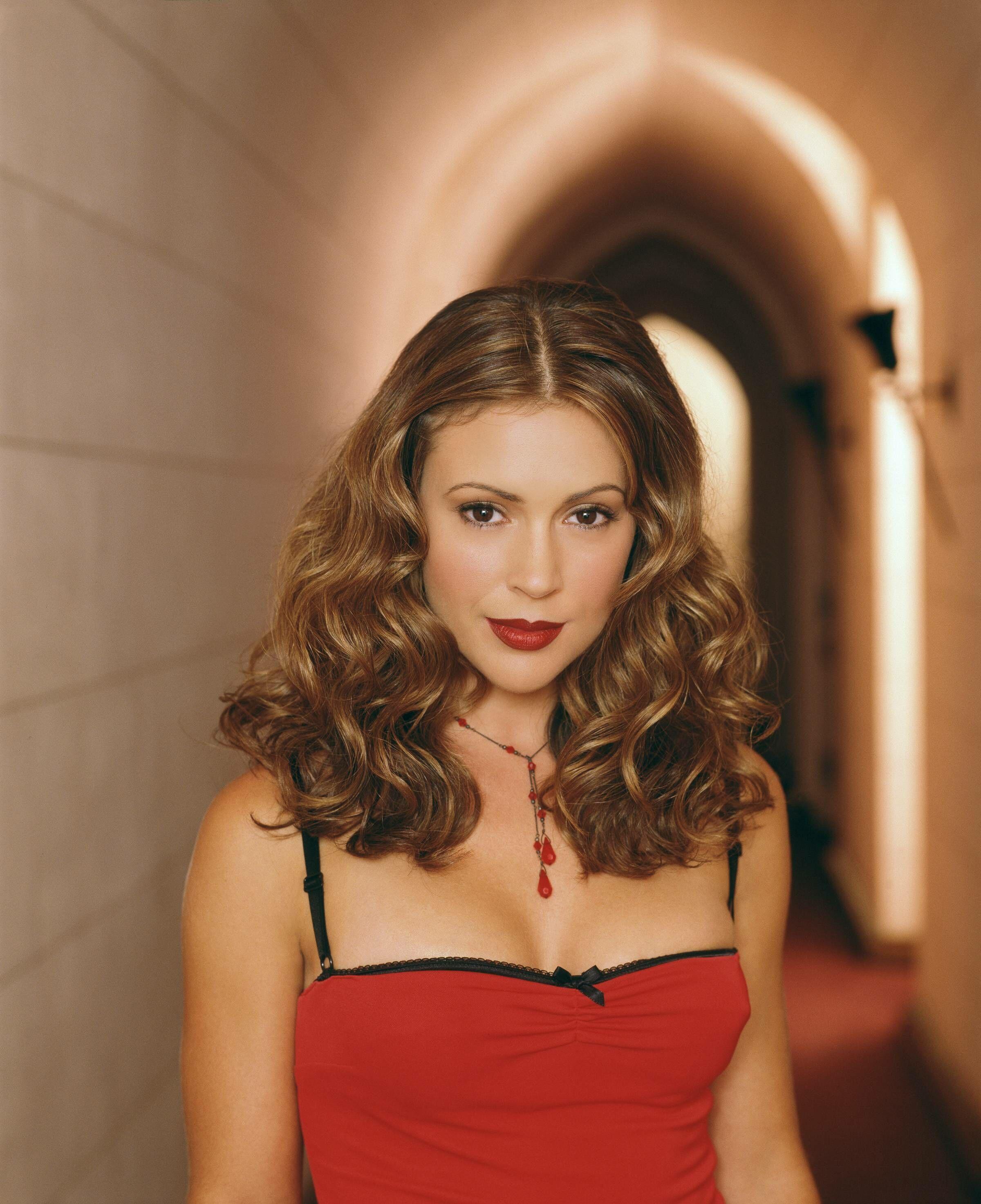 Female Celebrities With Light Brown Hair intended for charmed - season 4 promo   charmed   pinterest   alyssa milano