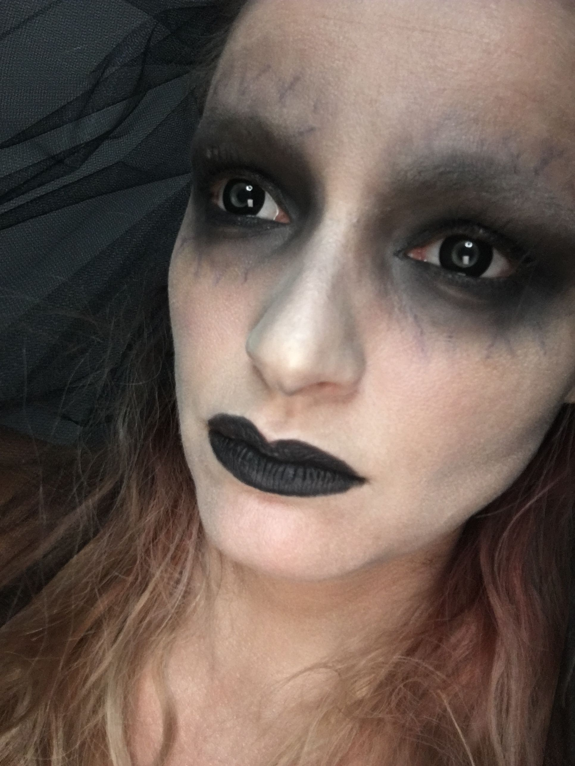 younique halloween makeup dead bride www.thebeautyinfusion