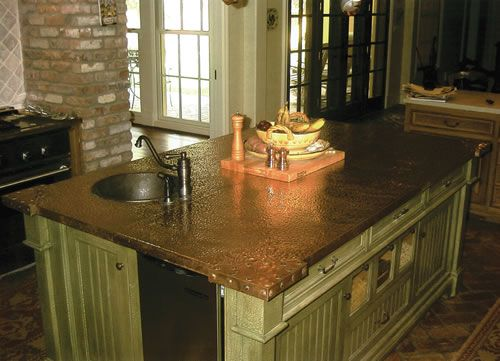 Hand Hammered Copper Counter Tops Provide Unsurpassed Quality Craftsmanship  Available In Architectural Metal Work. | Ideas For The House | Pinterest ...