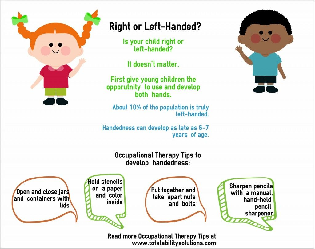 Worried about your young child being right or left-handed? It doesn't matter. Give young children opportunity to use both hands