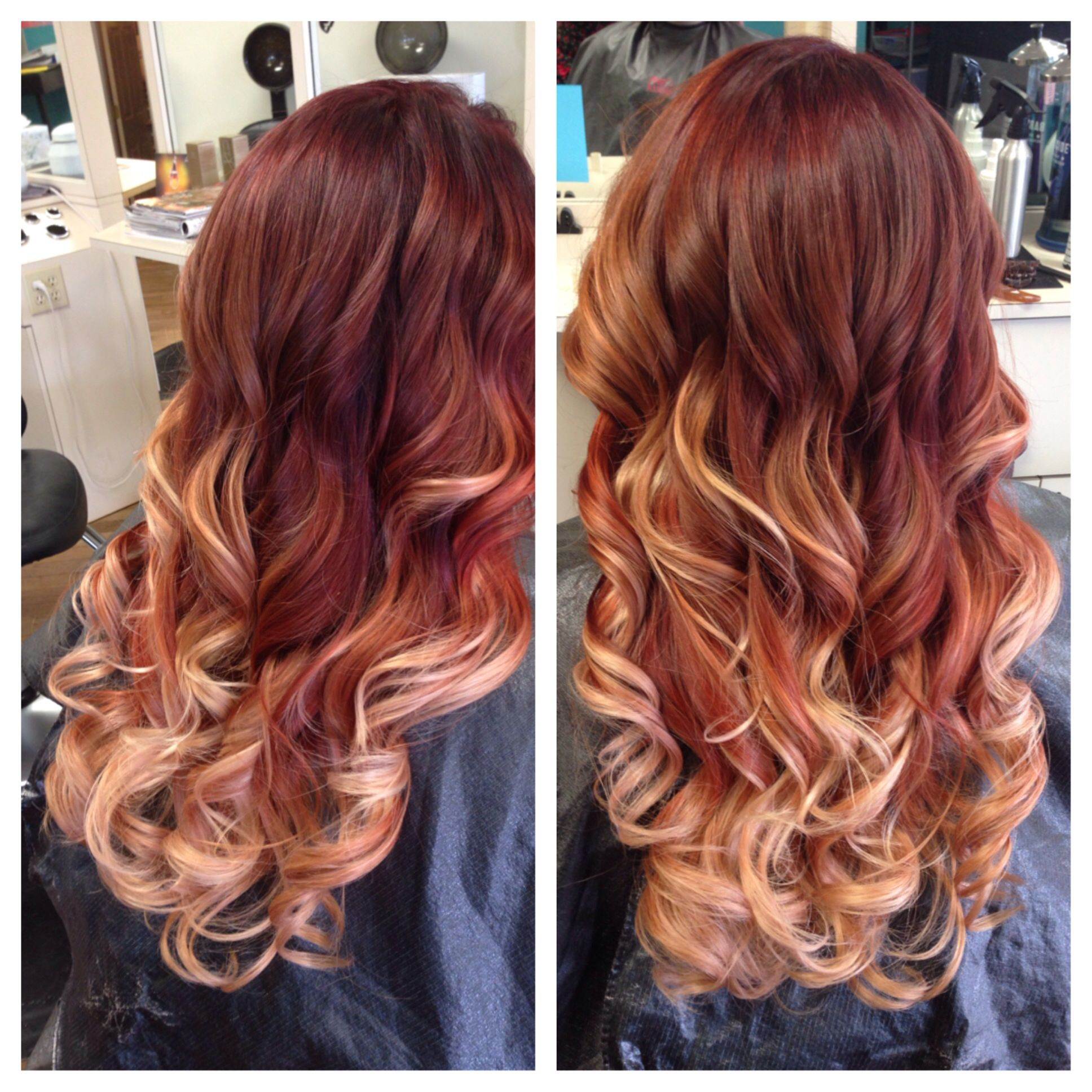 Sunset Inspired Color Melt By Anna Vaul Red Hair Colormelt