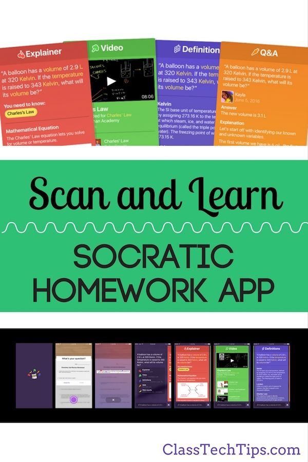 Scan and Learn with the Socratic Homework App Homework