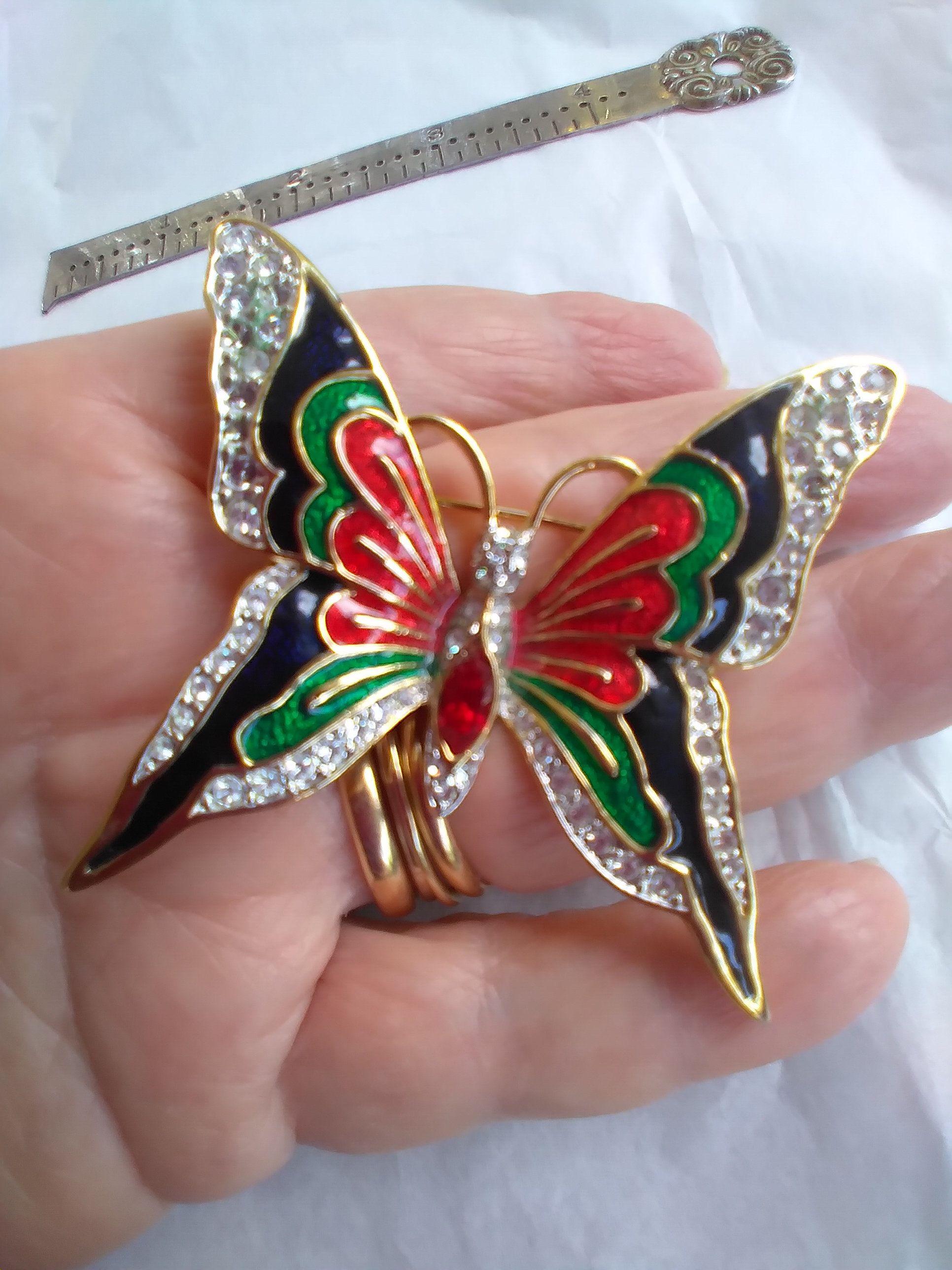 Large Butterfly Brooch Vintage Item