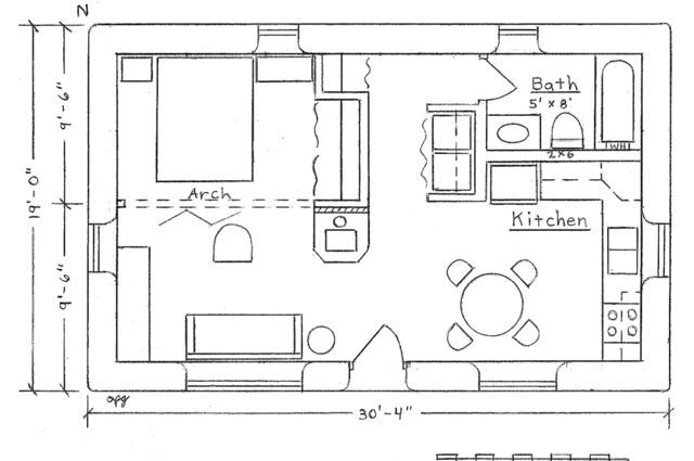 Image Result For 22 Feet X 33 Feet One Bedroom Industrial Loft Floor Plans Cabin Floor Plans Small House Blueprints Shed Plans