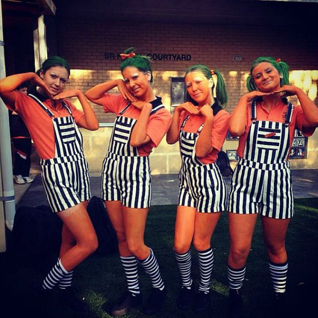 girl group halloween costumes oompa loompa maybe without the face paint oompa loompass - Halloween Costumes Without Dressing Up