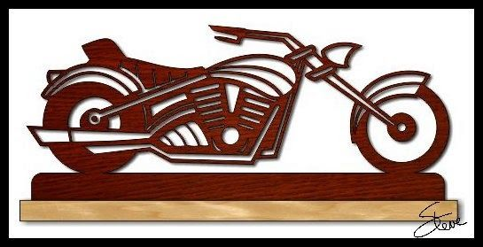 7f72aec10c35 Motorcycle Scroll Saw Pattern. | Woodworking | Scroll saw, Scroll ...