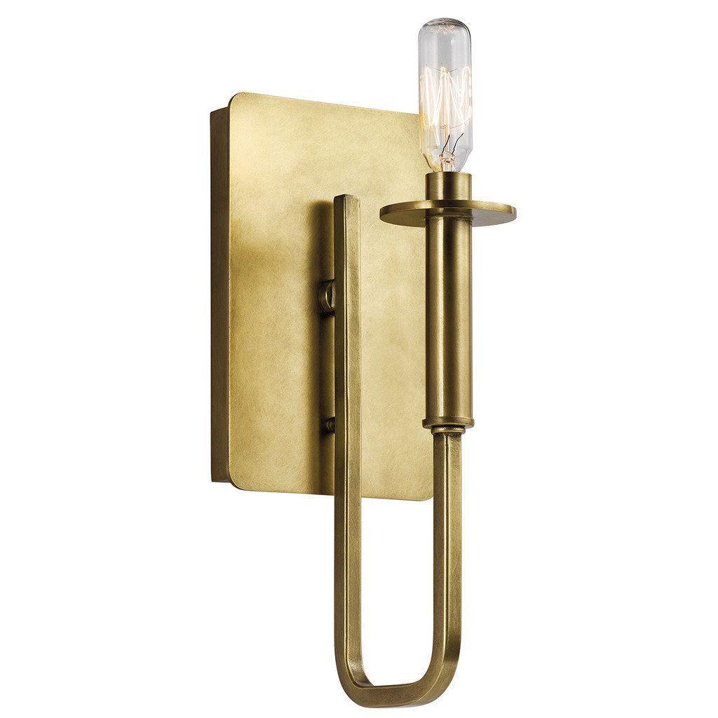 Kichler Lighting Alden Collection 1-light Natural Brass Wall Sconce ...