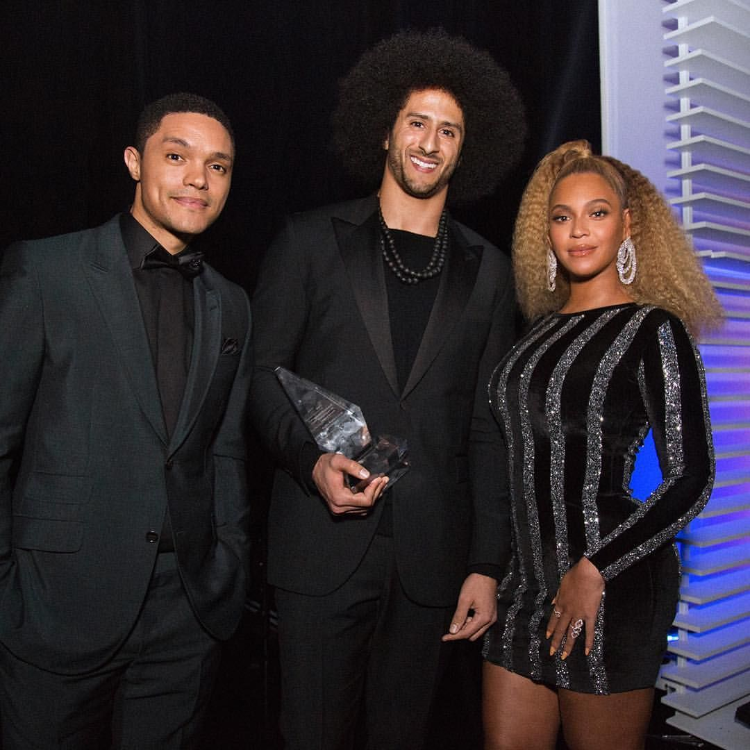 66a4a122e04 Three people I love in one picture. Trevor Noah, Colin Kaepernick and  Beyoncé