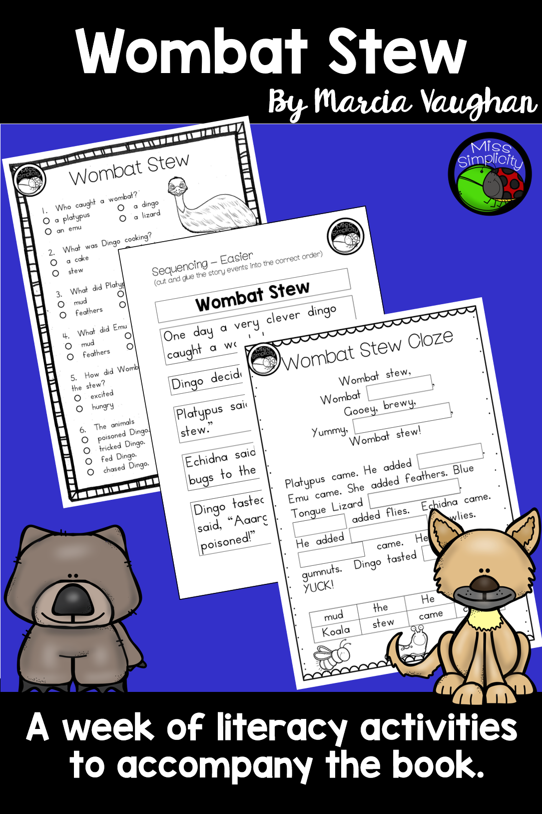 Wombat Stew A Week Of Reading Activities