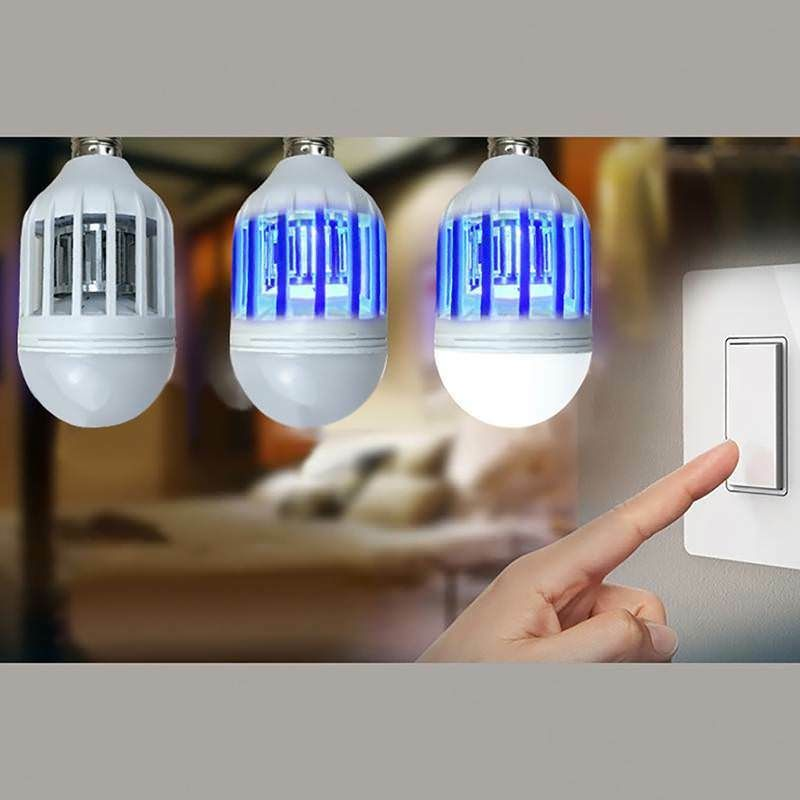 $3 66 LED Bulb E27 9W Anti-Mosquito Insect Zapper Fly Bug Moth