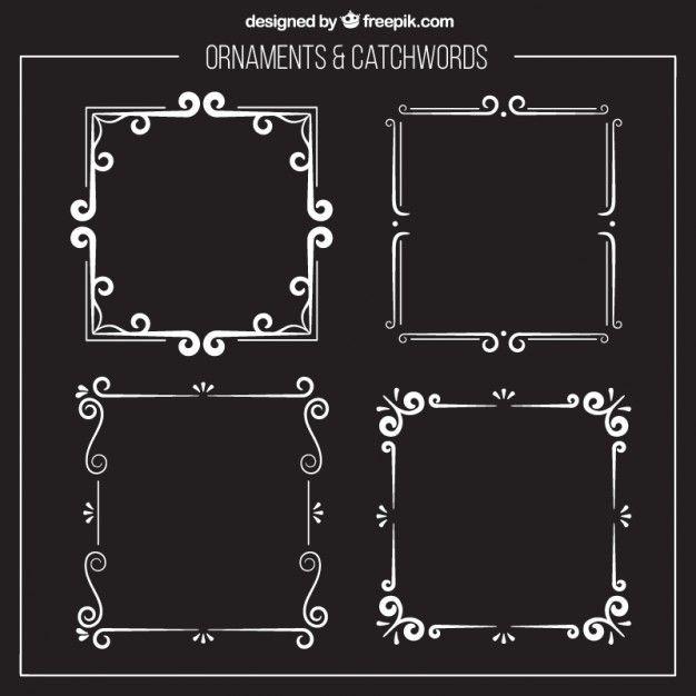 Marcos ornamentales de plata Vector Gratis | marcos | Pinterest ...