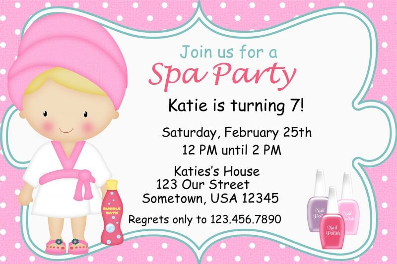 Spa Invitations Cheap Invitations Online Spa Party Invitations Spa Birthday Party Invitations Party Invite Template