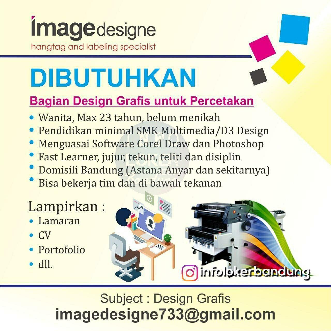 Lowongan Kerja Design Grafis Image Designe Bandung Desember 2018