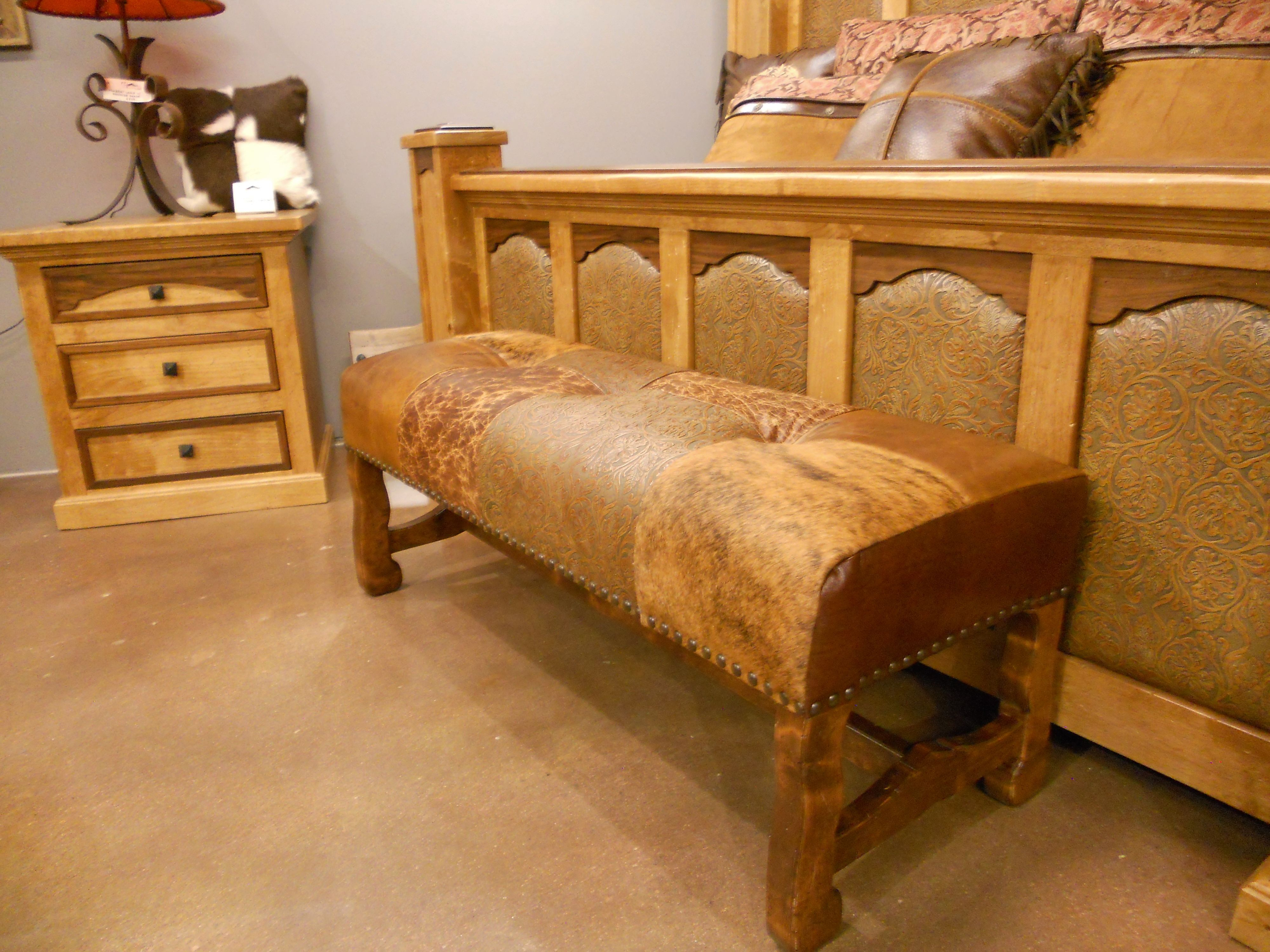 Rocky Top Patchwork Bench Western Furniture